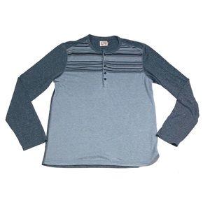 Howe horizontal striped grey long sleeve shirt